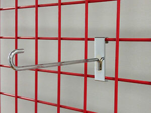 1000 Pc New Safety Metal 8 Inch Grid slat Wall Hooks Made For Kohl s In 2012