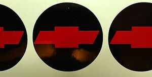 Chevy Solid Bowtie Wheel Center Cap 2 5 Overlay Decals Choose Colors 5 Pc Set