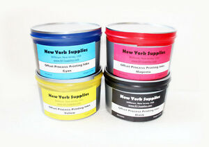 Set Of Cmyk Process Offset Printing Ink 2 5 Lbs Each