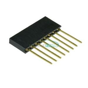 50pcs 2 54mm Pitch Single Row Stackable Shield Female 8 pin Header For Arduino
