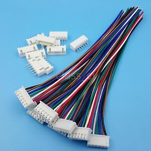 10sets Xh2 54 6pin 1007 24awg Single End 15cm Wire To Board Connector
