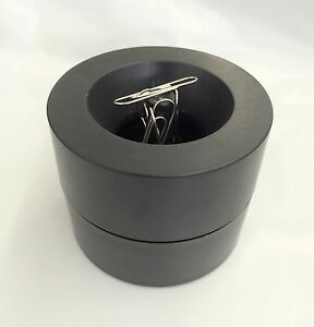 Magnetic Paper Clips Holder 150pc Silver Paper Clips Include Black Color