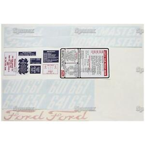 New Ford 601 641 651 And 661 Complete Decal Set