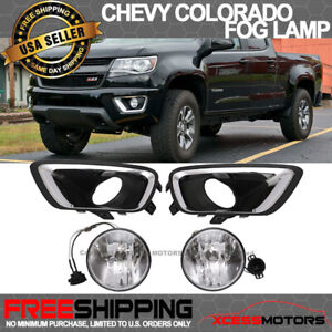 Fit 15 17 Chevy Colorado Front Fog Lamp Light Pair Kit Lh Rh Clear Lens