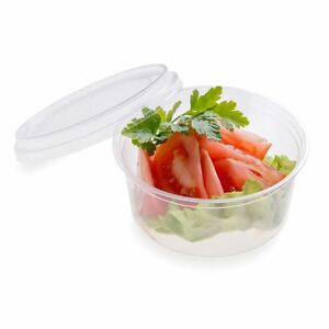 12 Ounces Basic Nature Pla Compostable Cold To Go Deli Container 500 Count Box