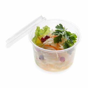 16 Ounces Basic Nature Pla Compostable Cold To Go Deli Container 500 Count Box