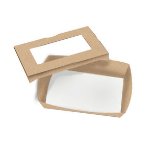 Small Cafe Vision Rectangular Window Take Out Container 28 Ounces 200 Count Box