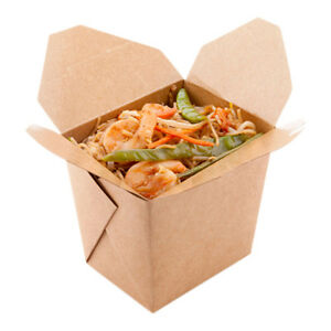 Large Eco Friendly Bio Noodle Take Out Container 16 Ounces 200 Count Box