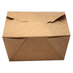 Small Eco Friendly Bio Box Take Out Container 26 Ounces 200 Count Box