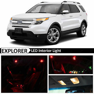 13x Red Interior Led Lights Package Kit For 2011 2015 Ford Explorer