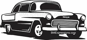 1955 Chevy Chevrolet Bel Air Vinyl Decal Your Color Choice Sticker