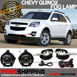 Fit 10 16 Chevy Equinox Front Projector Fog Lamp Light Pair Kit Lh Rh Clear Lens