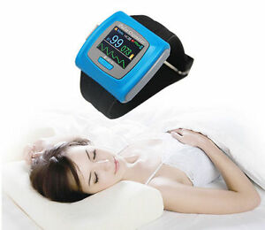 Contec Cms50f Wrist Pulse Oximeter Daily Overnight 24h Record pc Sw Oled Fda