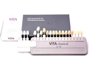Vita Classical Shade Guide A1 d4 With Attached Bleached Extension 19 Colors
