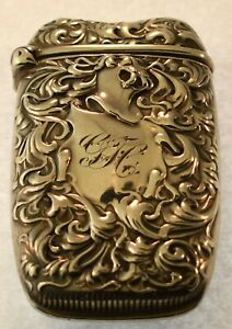 Whiting Sterling Silver Match Safe 1927