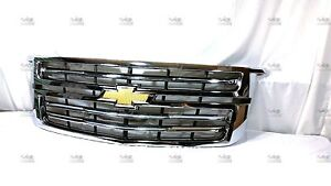 2015 2019 Chevrolet Tahoe Suburban Gm Chrome Accessory Grille 23320672 Oem New