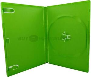 14mm Standard Green 1 Disc Dvd Case 100 Pack