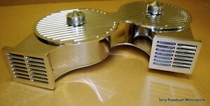 One Of A Kind Show Polished Custom Billet Cross Ram Air Cleaner Assembly