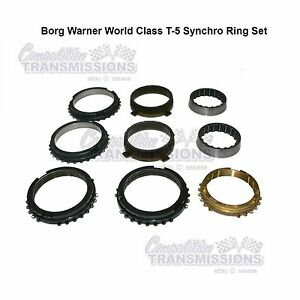 T5 Chevy Ford World Class Complete Sychro Ring Kit Good Used Set