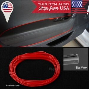 16 Ft Red Stripe Trim Line Insert For Vw Porsche Console Dashboard Door Panel