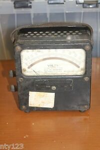 Vintage Lab Standard Volt Meter Weston Electrical Instr Co Model 455 Dc ac