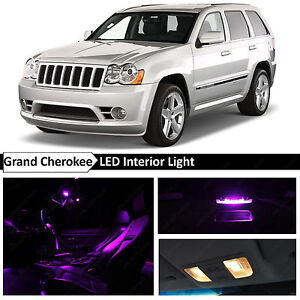 12x Purple Interior Led Lights Package For 2005 2010 Jeep Grand Cherokee