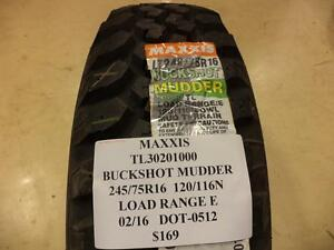Maxxis Buckshot Mudder 245 75 16 120 116n Lre Old New Stock Tire Tl30201000