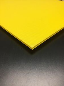 4mm Yellow 24 X 24 10 Pack Corrugated Plastic Coroplast Sheets Sign