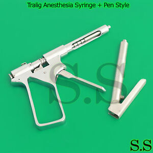 Tralig Anesthesia Syringe Pen Style Intraligamental Syringe Dental Instruments