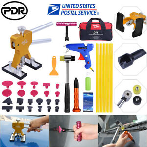 49 Pdr Tools Dent Lifter Puller Auto Body Paintless Hail Repair Tool Kits W Bag