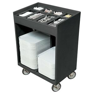 Cambro Tc1418110 Tray Silver Cart black