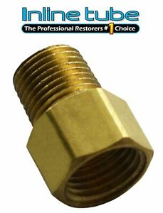 1 8 Npt Male 7 16 24 Inverted Flare Brake Line Brass Adapter Residual Valve 1pc