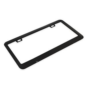 1 Black Aluminium Alloy License Plate Frame Tag Cover Screw Cap With Square Slot