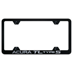 Wide Body License Plate Frame With Acura Tl Type S On Black licensed