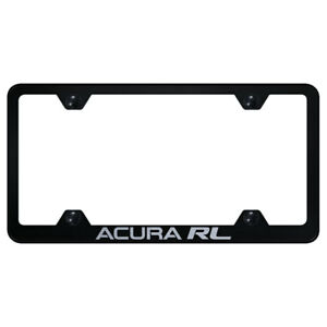 Wide Body License Plate Frame With Acura Rl On Black officially Licensed