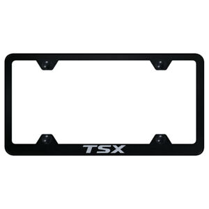 Wide Body License Plate Frame With Acura Tsx Name On Black officially Licensed