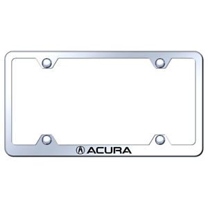 Wide Body License Plate Frame With Acura On Stainless Steel licensed
