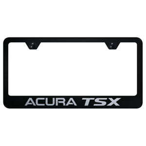 License Plate Frame With Acura Tsx Laser Etched On Black officially Licensed