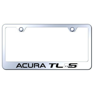 License Plate Frame With Acura Tl Type S On Stainless Steel licensed
