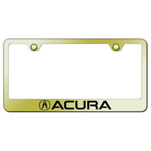 License Plate Frame With Acura Laser Etched On Gold officially Licensed