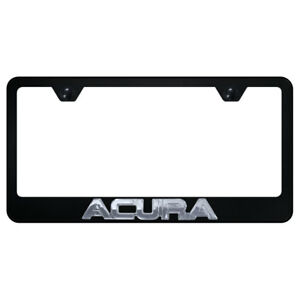License Plate Frame Chrome With Acura 3d On Black Metal officially Licensed