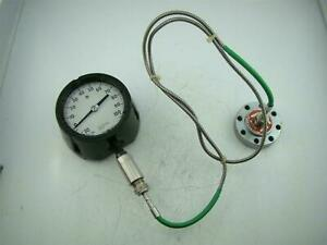 Ascroft Pressure Gauge 30 To 200 Psi Ametek Diaphragm Seal Dia 316l St Stl