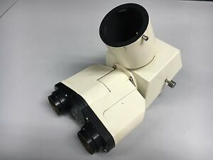 Zeiss Trinocular Microscope Head 45 17 22 Removed From Carl Zeiss Axiovert 35
