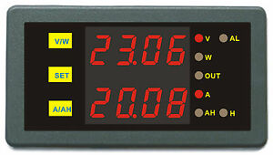 Dc Amp Volt Ampere Hour Meter Battery Monitor Prevent Over charge Over discharge
