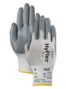 Ansell Hyflex Foam Nitrile Coated Palm Gloves 11800 Size 8 12 Pair