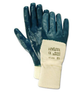 Ansell Hylite 47400 Nitrile Coated Knitwrist Gloves Size 10 12 Pairs
