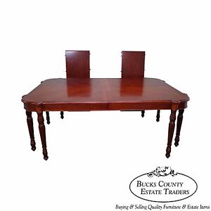 Pulaski Antiques Roadshow Large Sheraton Style Mahogany Dining Table