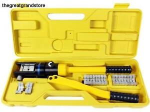 Tms 16t Hydraulic Wire Battery Cable Lug Terminal Crimper Crimping Tool 11 Dies