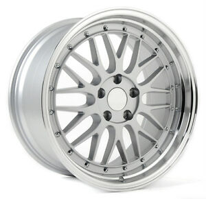 read Listing 1 18x8 0 Bbs Lm Style Replica Wheels Rims 5x120 Silver