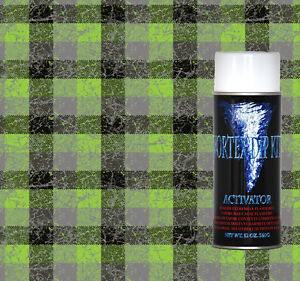 Hydrographics Film Activator Hydro Dipping Water Transfer Green Plaid